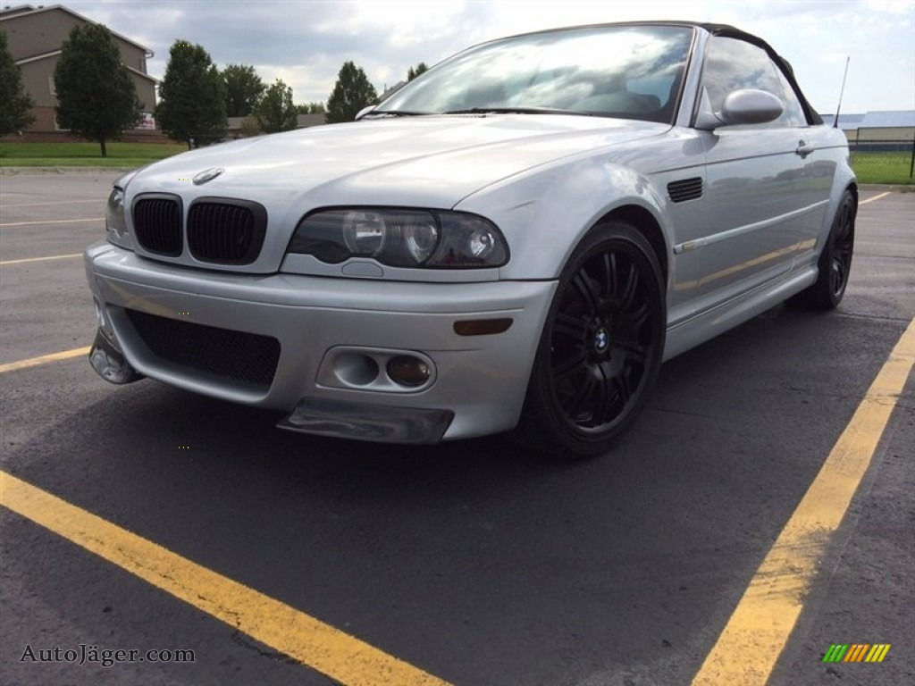 2001 M3 Convertible - Titanium Silver Metallic / Black photo #1