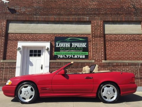 Imperial Red 1996 Mercedes-Benz SL 500 Roadster