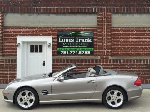 Pewter Metallic 2005 Mercedes-Benz SL 500 Roadster