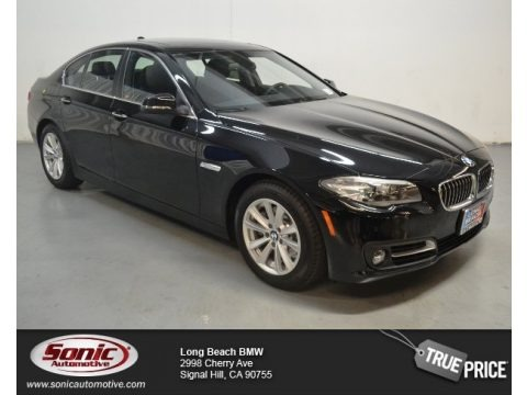Jet Black 2015 BMW 5 Series 528i Sedan
