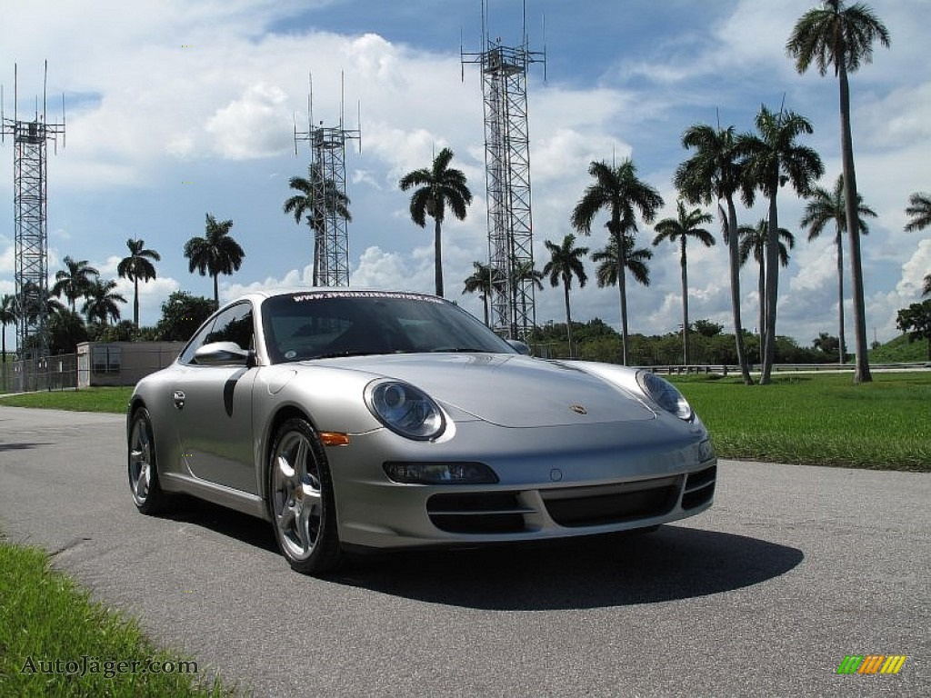 2005 911 Carrera S Coupe - Arctic Silver Metallic / Black photo #1