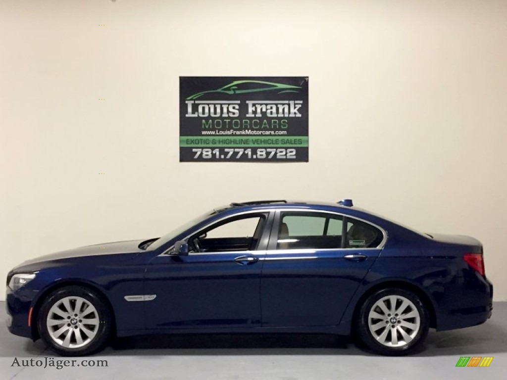2010 7 Series 750i xDrive Sedan - Deep Sea Blue Metallic / Saddle/Black Nappa Leather photo #1