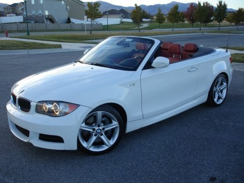 Alpine White 2010 BMW 1 Series 135i Convertible