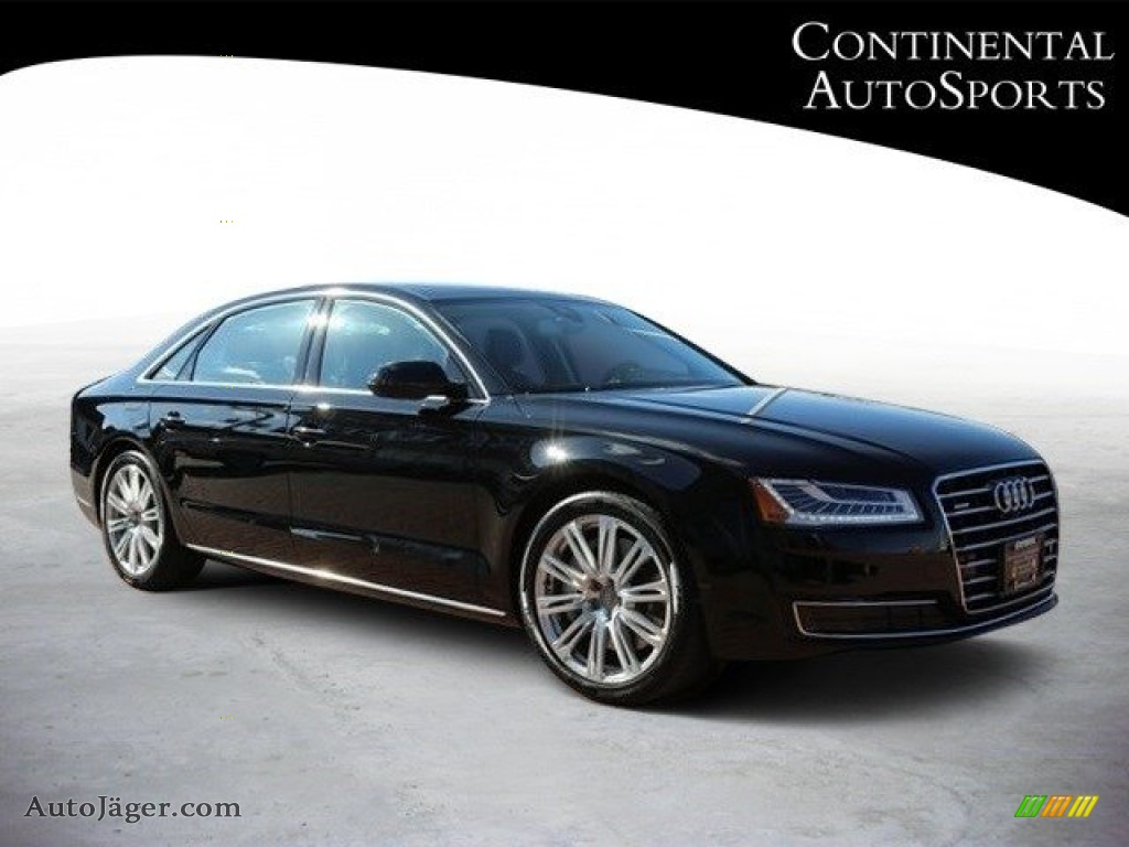 2015 A8 L 3.0T quattro - Phantom Black Pearl / Black photo #1