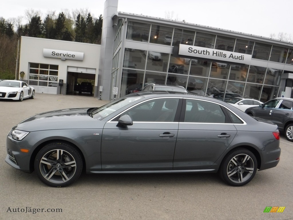 2017 a4 2 0t premium plus quattro monsoon gray metallic nougat brown photo