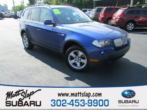 Montego Blue Metallic 2008 BMW X3 3.0si
