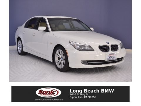 Alpine White 2010 BMW 5 Series 535i Sedan