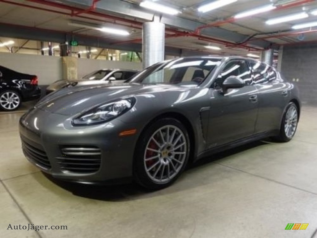 2016 Panamera GTS - Agate Grey Metallic / Black photo #1