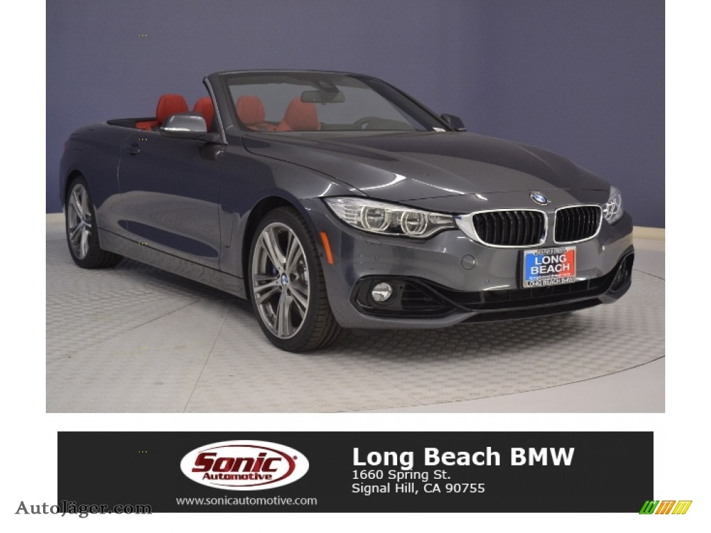 Mineral Grey Metallic Black BMW 4 Series 440i Convertible