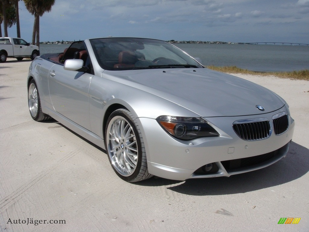 2006 6 Series 650i Convertible - Titanium Silver Metallic / Chateau Red photo #1
