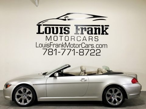 Mineral Silver Metallic 2007 BMW 6 Series 650i Convertible