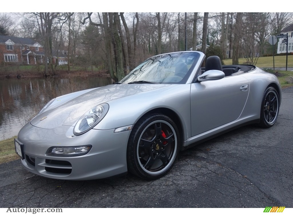2006 911 Carrera 4 Cabriolet - Arctic Silver Metallic / Black photo #1