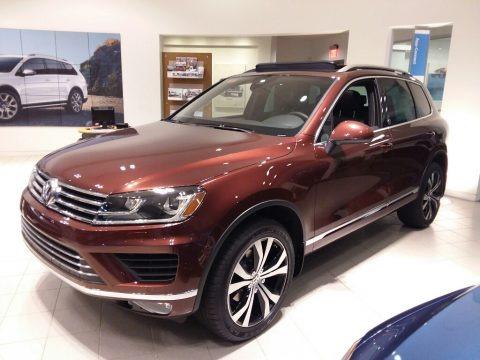 Deep Red Metallic 2017 Volkswagen Touareg V6 Exectutive