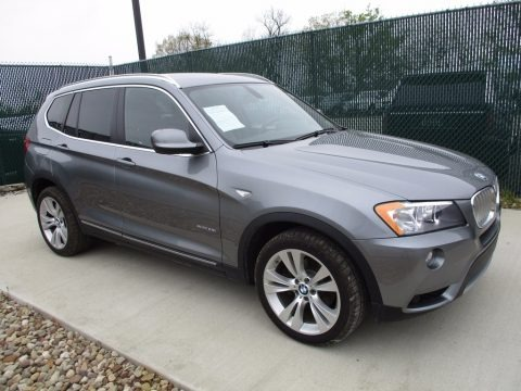 Space Gray Metallic 2012 BMW X3 xDrive 35i