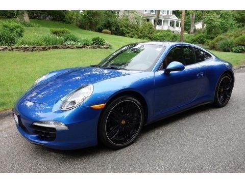 Sapphire Blue Metallic 2015 Porsche 911 Carrera 4 Coupe