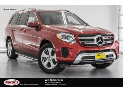 designo  Cardinal Red Metallic 2017 Mercedes-Benz GLS 450 4Matic