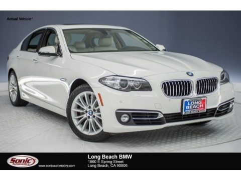 Alpine White 2014 BMW 5 Series 528i Sedan