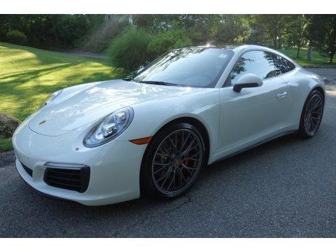 White 2017 Porsche 911 Carrera 4S Coupe
