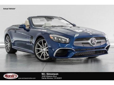 Brilliant Blue Metallic 2017 Mercedes-Benz SL 550 Roadster