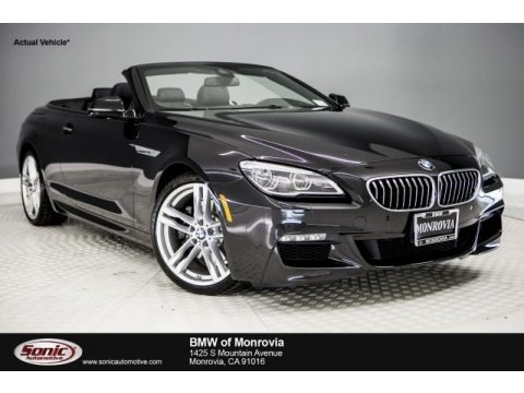 Black Sapphire Metallic 2017 BMW 6 Series 640i Convertible