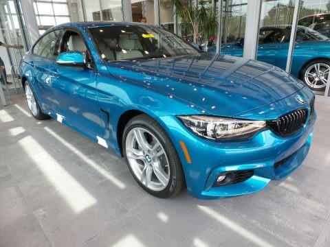 Snapper Rocks Blue Metallic 2018 BMW 4 Series 440i xDrive Gran Coupe
