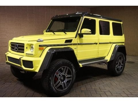 Electric Beam Yellow 2017 Mercedes-Benz G 550 4x4 Squared