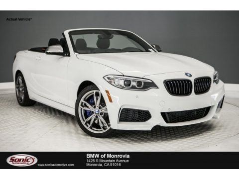 Alpine White 2017 BMW 2 Series M240i Convertible