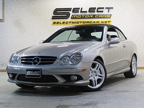 Pewter Metallic 2009 Mercedes-Benz CLK 550 Cabriolet