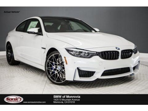 Mineral White Metallic 2018 BMW M4 Coupe
