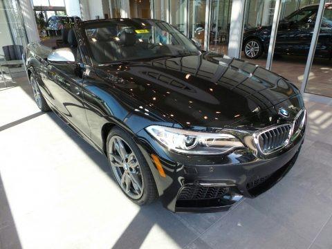 Black Sapphire Metallic 2017 BMW 2 Series M240i xDrive Convertible
