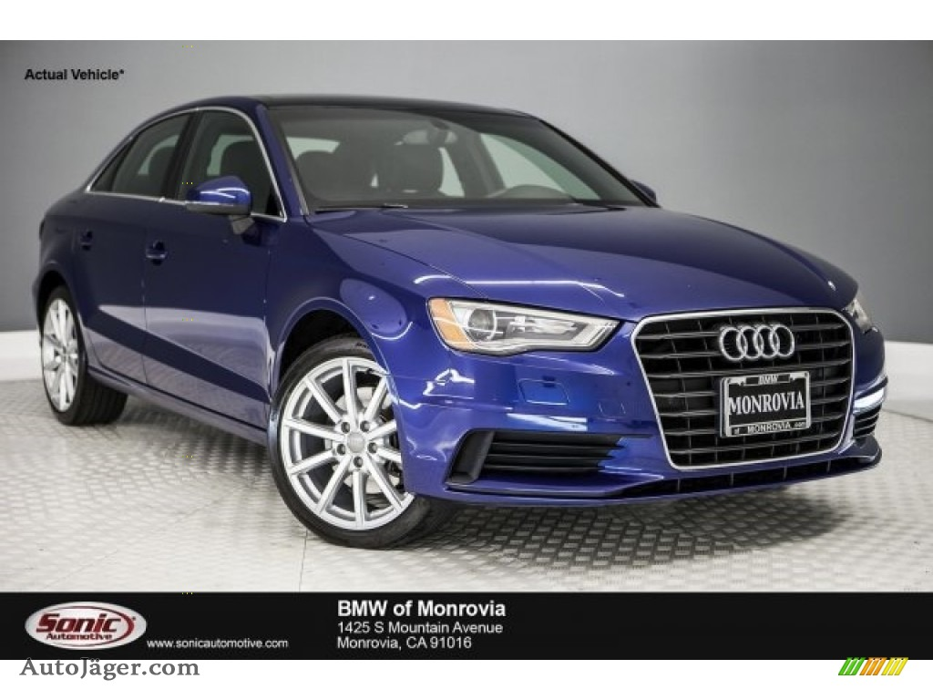 2015 A3 1.8 Premium Plus - Scuba Blue Metallic / Black photo #1