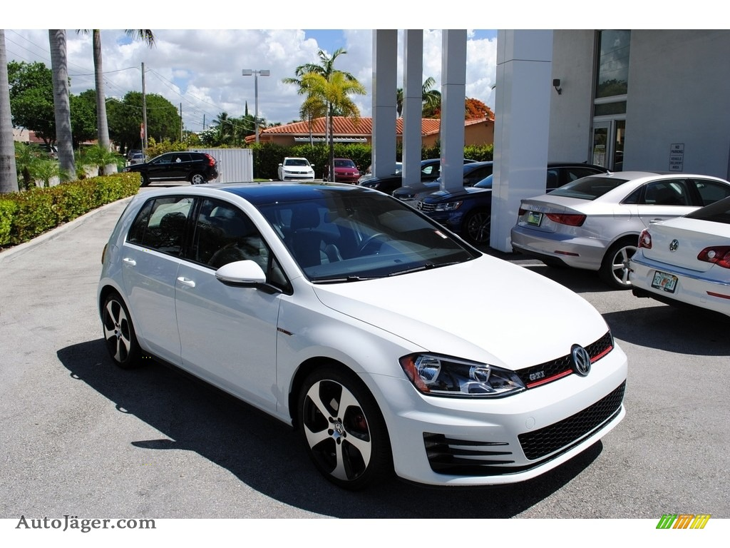 2015 Golf GTI 4-Door 2.0T Autobahn - Pure White / Titan Black Leather photo #1