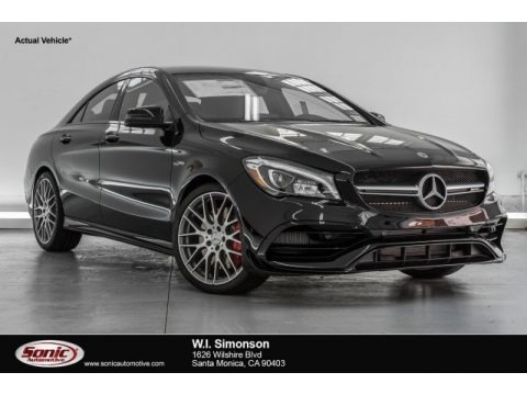 Cosmos Black Metallic 2018 Mercedes-Benz CLA AMG 45 Coupe