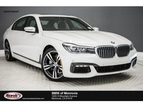 Mineral White Metallic 2018 BMW 7 Series 740i Sedan
