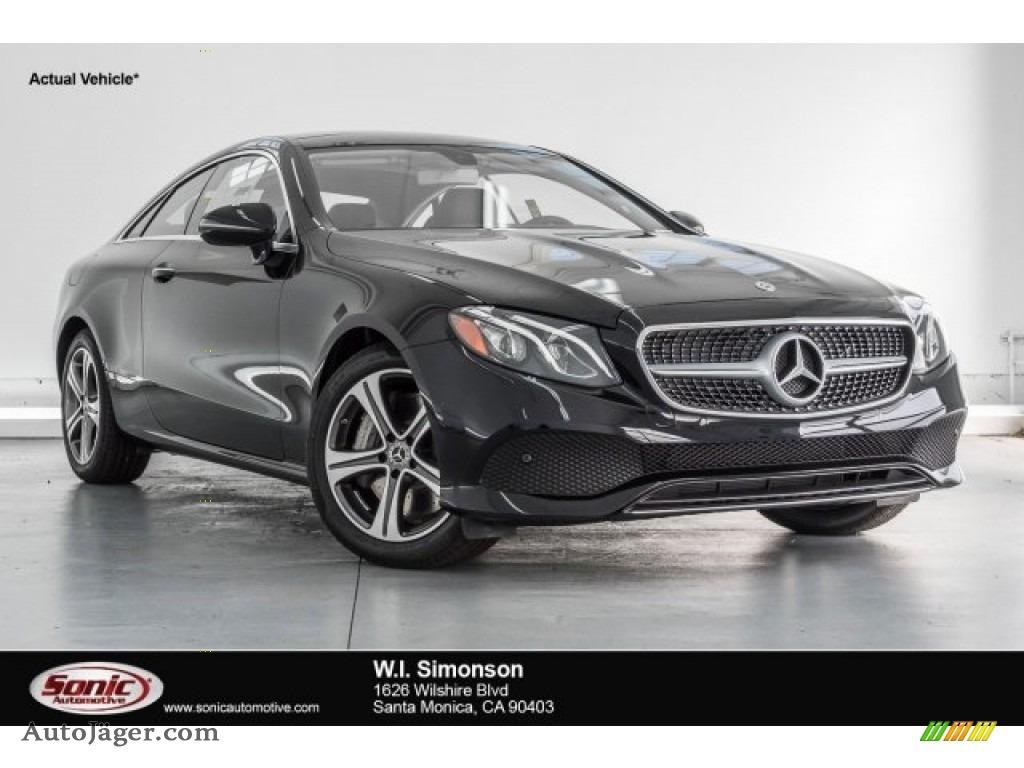 2018 E 400 Coupe - Black / Black photo #1