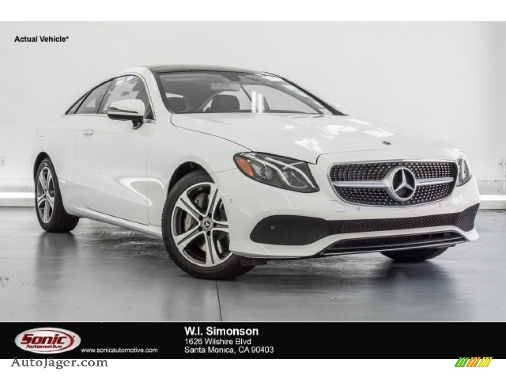 Polar White / Black Mercedes-Benz E 400 Coupe