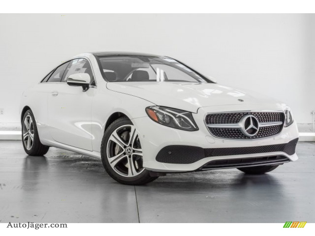 2018 E 400 Coupe - Polar White / Black photo #12