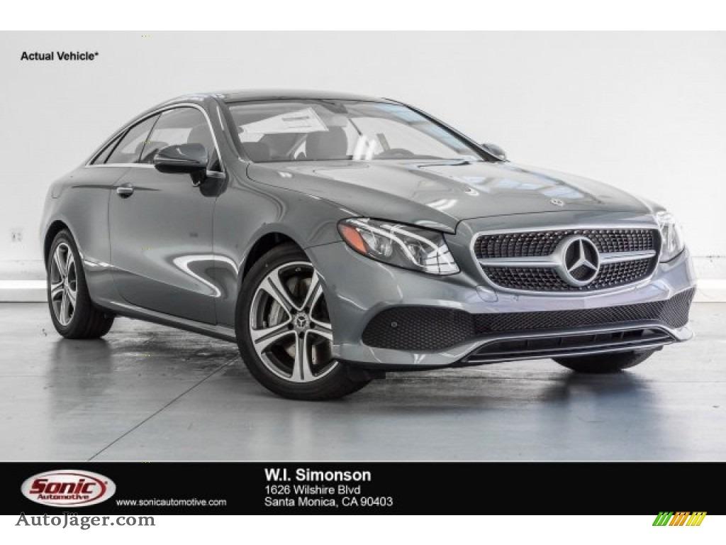 2018 E 400 Coupe - Selenite Grey Metallic / Black photo #1