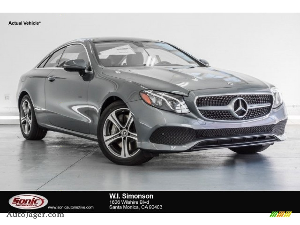 2018 E 400 Coupe - Selenite Grey Metallic / Black photo #1