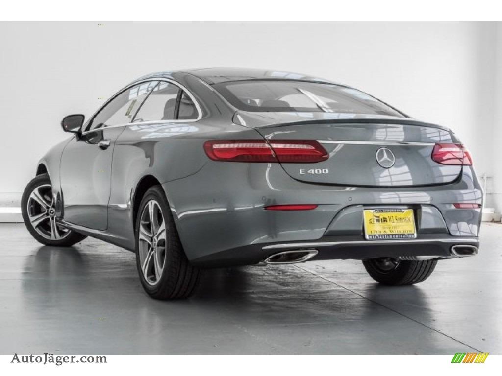2018 E 400 Coupe - Selenite Grey Metallic / Black photo #3