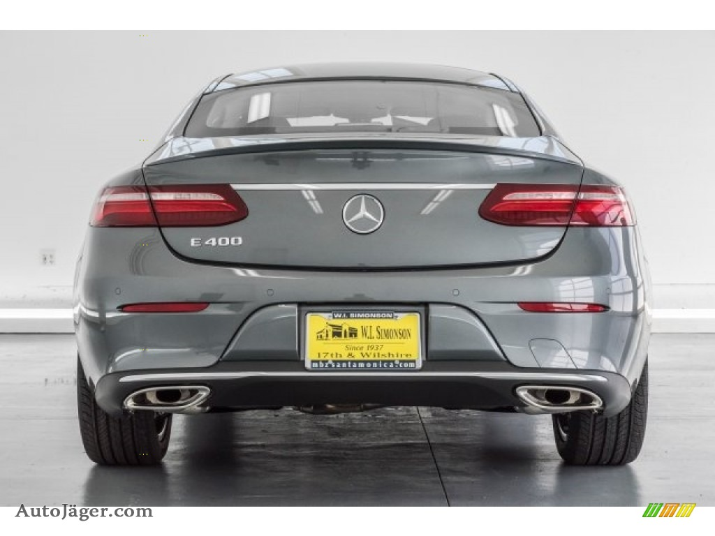 2018 E 400 Coupe - Selenite Grey Metallic / Black photo #4