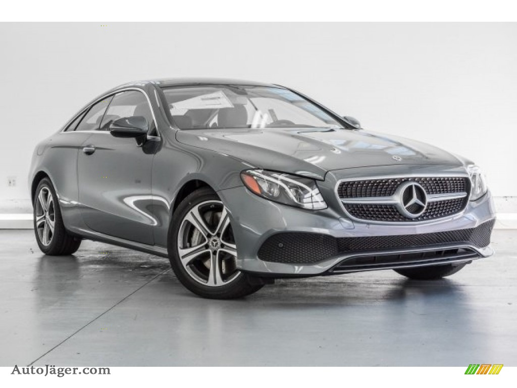 2018 E 400 Coupe - Selenite Grey Metallic / Black photo #12