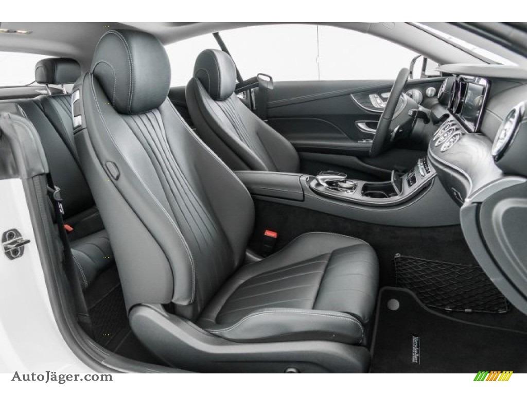 2018 E 400 Coupe - Polar White / Black photo #2
