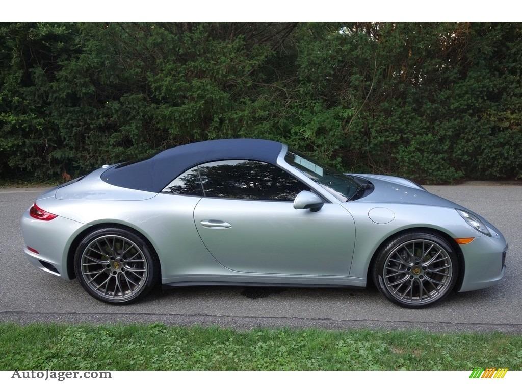 2017 911 Carrera 4 Cabriolet - Rhodium Silver Metallic / Graphite Blue/Chalk photo #7