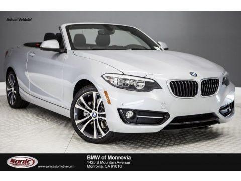 Glacier Silver Metallic 2017 BMW 2 Series 230i Convertible