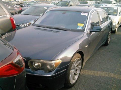 Toledo Blue Metallic 2002 BMW 7 Series 745Li Sedan