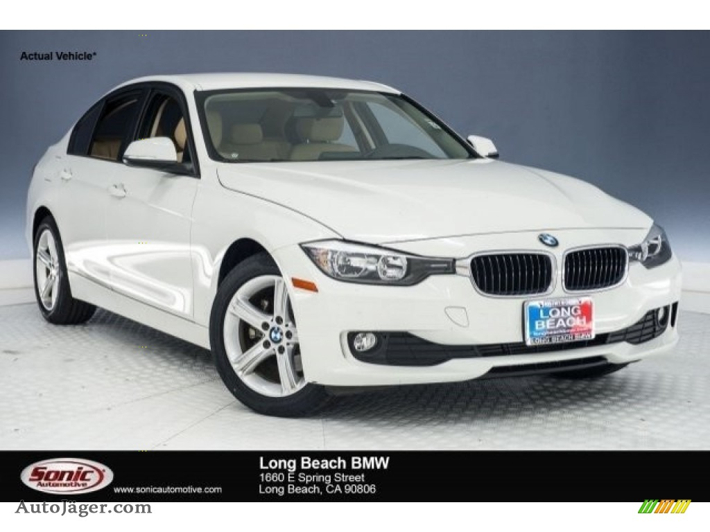2014 3 Series 320i Sedan - Alpine White / Venetian Beige photo #1