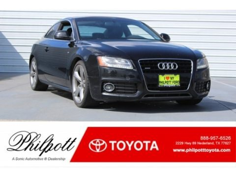 Brilliant Black 2009 Audi A5 3.2 quattro Coupe