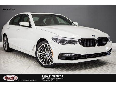 Alpine White 2017 BMW 5 Series 540i Sedan