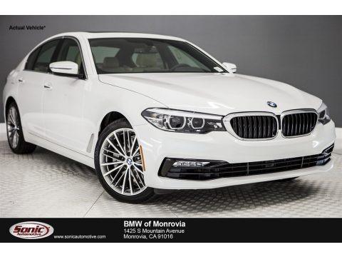 Mineral White Metallic 2017 BMW 5 Series 530i Sedan